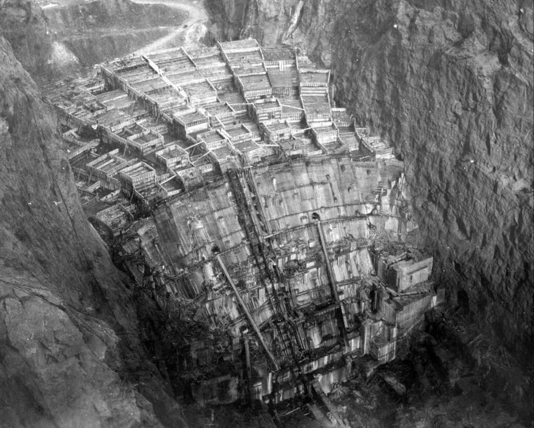 Cañón negro antes de la construcción de la presa Hoover. (Biblioteca del Congreso)