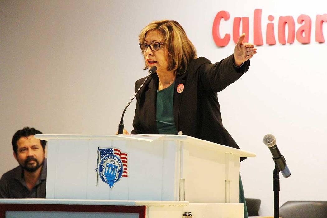 En el 2012, Geoconda Argüello-Kline, una inmigrante nicaragüense es elegida como la primera líder latina de la Unión Culinaria. Foto Cortesía.