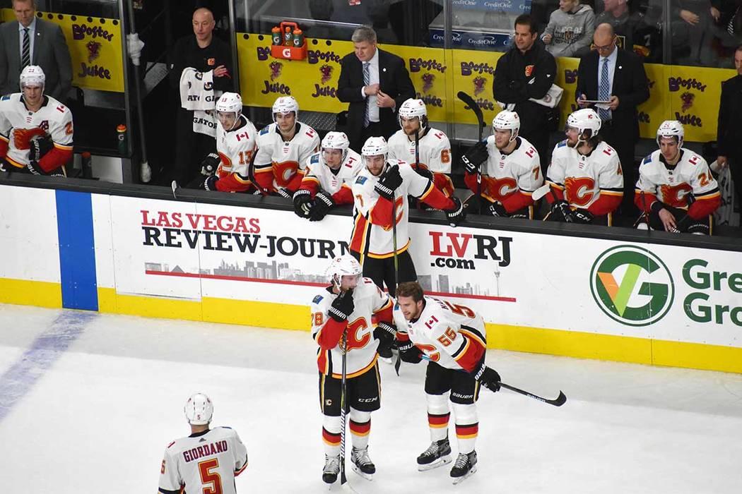 Calgary Flames fue superado por el equipo local. Miércoles 6 de marzo de 2019 en la arena T-Mobile de Las Vegas. Foto Frank Alejandre / El Tiempo.