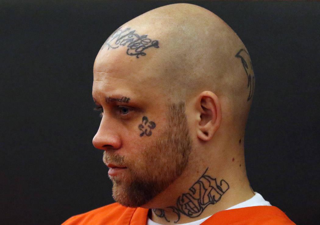 Bayzle Morgan comparece ante el tribunal durante su audiencia en el Centro Regional de Justicia el jueves 29 de noviembre de 2019, en Las Vegas. Morgan se enfrenta a la pena de muerte en el asesin ...