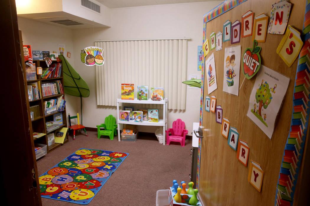 La biblioteca infantil en el campus de mujeres y niños de WestCare Nevada en Las Vegas el miércoles 6 de marzo de 2019. (K.M. Cannon / Las Vegas Review-Journal) @KMCannonPhoto