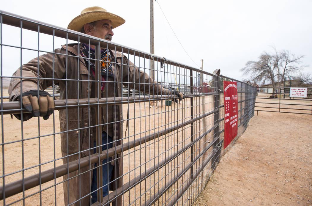 Steve Myers, quien trabaja en Red Rock Riding Stables, observa el Bonnie Springs Ranch en las afueras de Las Vegas el sábado 12 de enero de 2019. El rancho está bajo contrato para ser vendido y ...