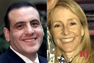 El ex ejecutivo de casinos del Strip, Gamal Aziz, izquierda, y la ex ejecutiva de medios de San Diego, Elisabeth Kimmel, a la derecha, están acusadas de pagar cientos de miles de dólares en sobo ...