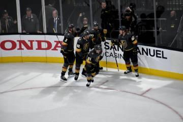 Ambos equipos generaron oportunidades de gol, Vegas Golden Knights y Edmonton Oilers brindaron un buen juego de hockey. Domingo 17 de marzo de 2019 en T-Mobile Arena. Foto Anthony Avellaneda / El ...
