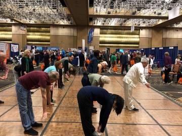Demostración de Tai Chi, en la Expo AgeWell 2019, organizada por el periódico Las Vegas Review Journal. Sábado 16 de marzo de 2019 en el Hotel Río. Foto Valdemar González / El Tiempo - Contri ...