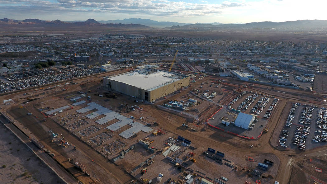 Vista aérea del Google Data Center en construcción en Henderson, Nevada, el lunes 11 de marzo de 2019. (Michael Quine / Las Vegas Review-Journal) @ Vegas88s