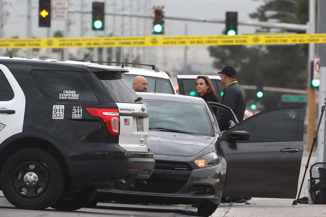 El Departamento de Policía Metropolitana está investigando un aparente asesinato-suicidio en la cuadra 5400 de Eastern Avenue el miércoles 20 de marzo de 2019, en Las Vegas. Bizuayehu Tesfaye L ...
