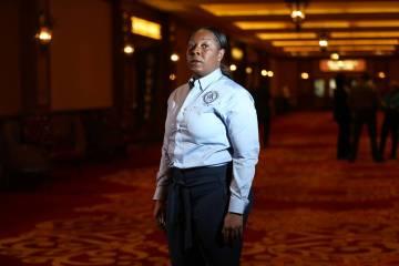 La jefa del Departamento de Policía de Henderson, LaTesha Watson, ha sido puesta bajo licencia administrativa hasta nuevo aviso, anunció la ciudad el jueves 14 de marzo. (Erik Verduzco Las Vegas ...