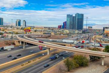La I-15 y el cruce de Tropicana Avenue, que se ve aquí el 31 de enero de 2019, está programada para una actualización de $200 millones. La construcción del proyecto está programada para comen ...