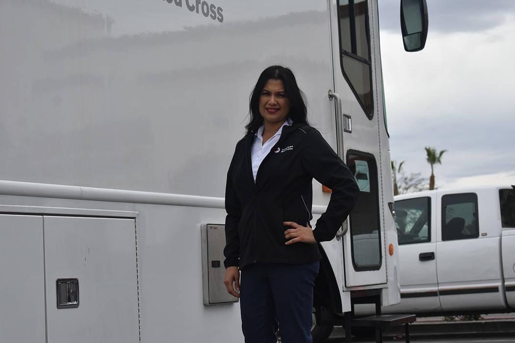 La gerente de comunicación de Cruz Roja del Sur de Nevada, Cynthia De La Torre, mencionó que ...