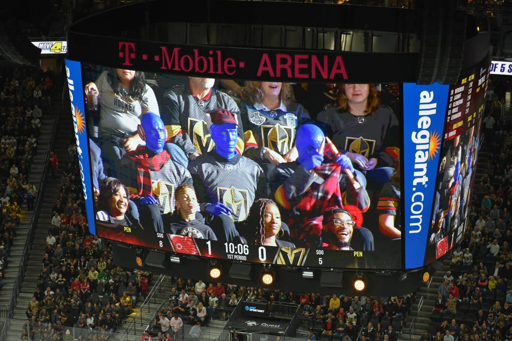 Vegas Golden Knights y Detroit Red Wins ofrecieron un atractivo juego de NHL a los 18,437 aficionados reunidos en la arena. Sábado 23 de marzo de 2019 en T-Mobile Arena. Foto Anthony Avellaneda / ...
