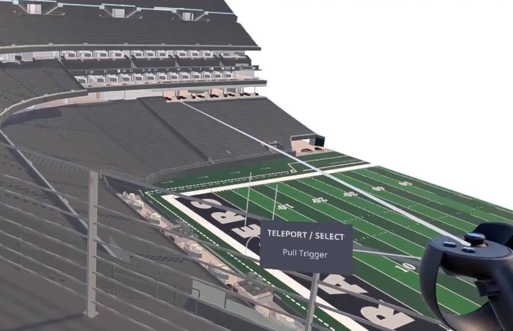 Mortenson-McCarthy, los desarrolladores del nuevo estadio de los Raiders, han creado un sistema para capturar planos por medio de escáneres láser y realidad virtual. (Mortenson-McCarthy)