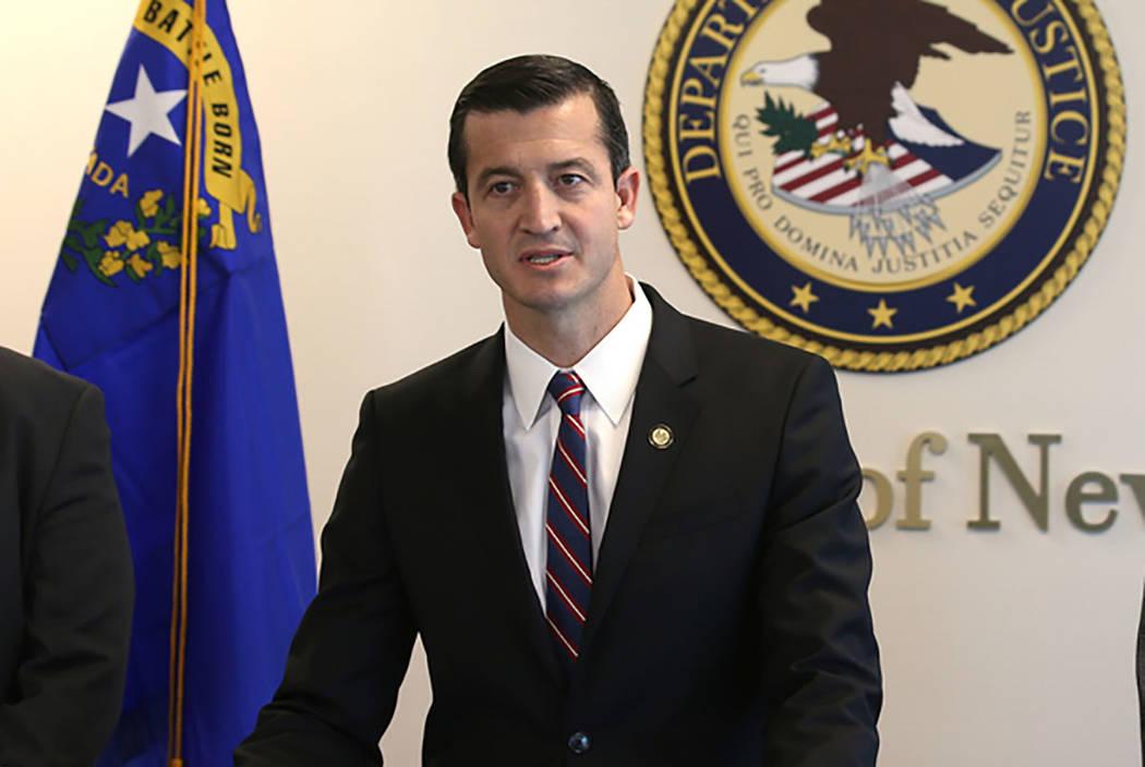 El abogado estadounidense, Nicholas Trutanich, el 11 de marzo de 2019, en Las Vegas. (K.M. Cann ...