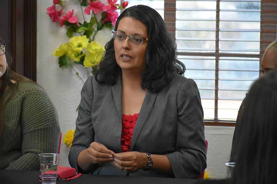 La candidata al Concejo de Las Vegas por el Distrito 3, Olivia Díaz, habló sobre su experienc ...
