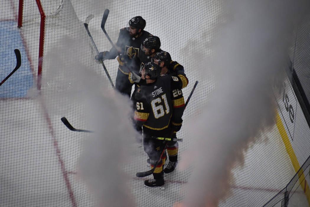 Vegas Golden Knights y Minnesota Wild se enfrentaron en la recta final de la temporada 2018-19 ...