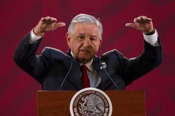 México, 3 Abr 2019 (Notimex-José Pazos).- En la conferencia de prensa de esta mañana, el pre ...