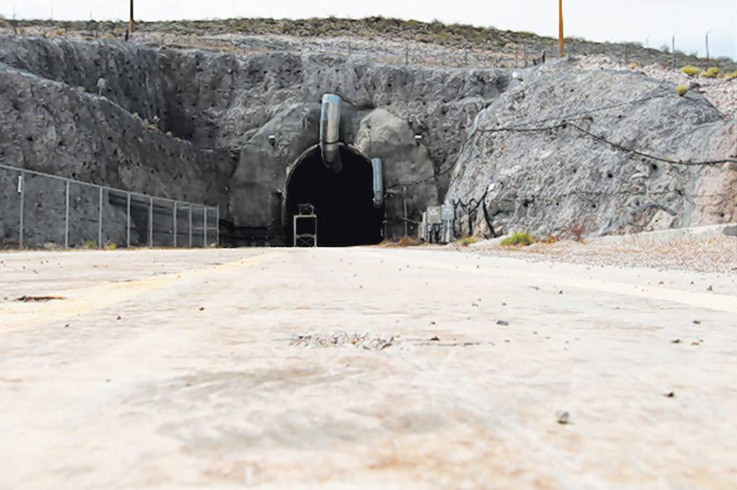 El portal norte del túnel de Yucca Mountain el jueves 9 de abril de 2015. (Sam Morris / Las Ve ...