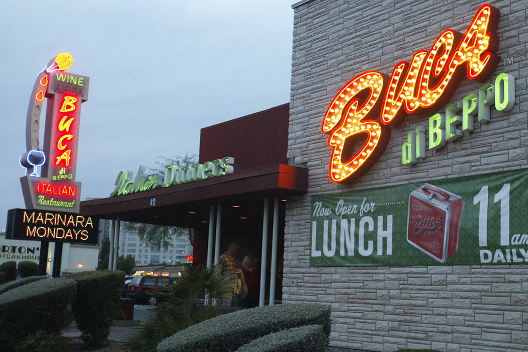 Buca di Beppo en 412 E. Flaming Road en Las Vegas (Las Vegas Review-Journal, Archivo)