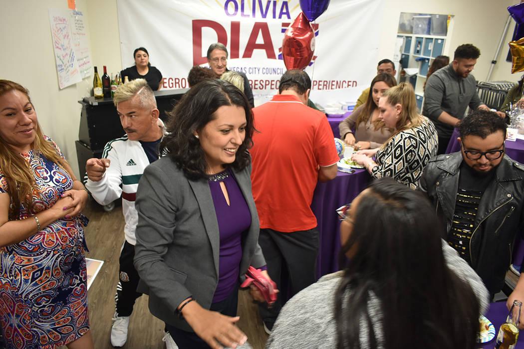 Olivia Díaz agradeció el apoyo de su familia y de grupos comunitarios. Martes 2 de abril de 2 ...