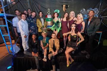 Parte del elenco del show Absinthe, en el Caesars Palace. Lunes 1 de abril de 2019, en el hotel ...