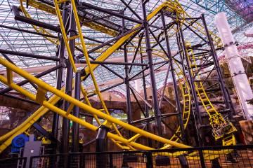 """Archivo.- La montaña rusa """"El Loco"""" en el Adventuredome en Circus Circus en Las Vegas, el 22 d ..."""