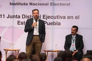 ARCHIVO. Puebla, 25 Mar 2019 (Notimex-Especial).- El consejero presidente del INE, Lorenzo Cór ...