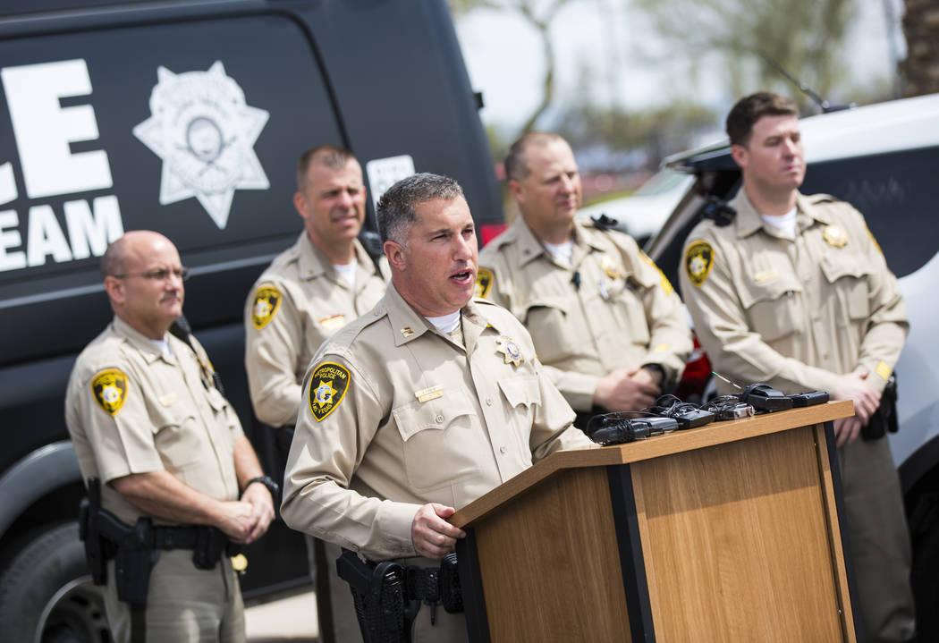 Metropolitan Police Department Capt. Nick Farese speaks during an event marking 500 arrests by ...