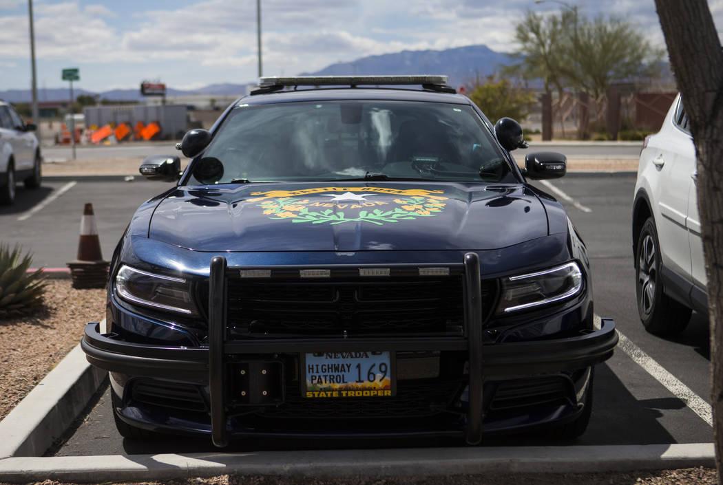 A Nevada Highway Patrol sedan outside of Metropolitan Police Department's traffic bureau in Las ...