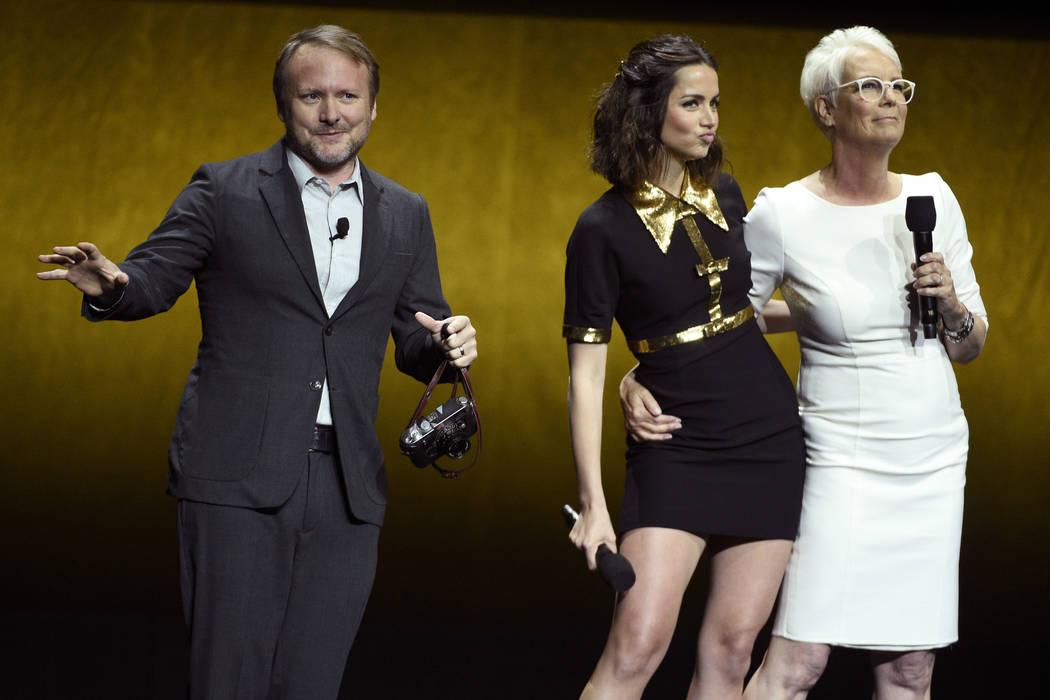 """Rian Johnson, a la izquierda, director de la próxima película """"Knives Out"""", habla sobre la pe ..."""