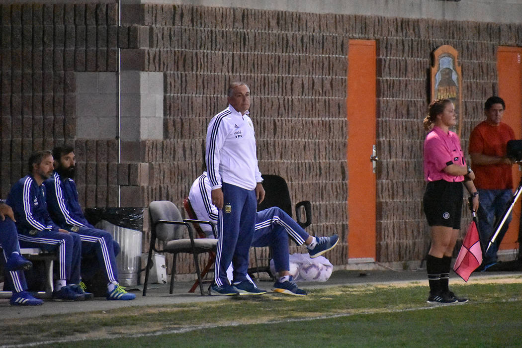 La Selección de Argentina enfrentó a UNLV como parte de su preparación rumbo a la Copa Mundi ...