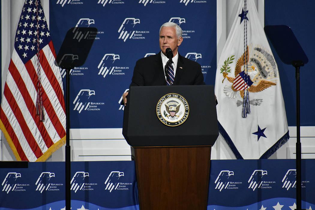 El vicepresidente Mike Pence dijo priorizó la seguridad nacional bajo la actual administració ...
