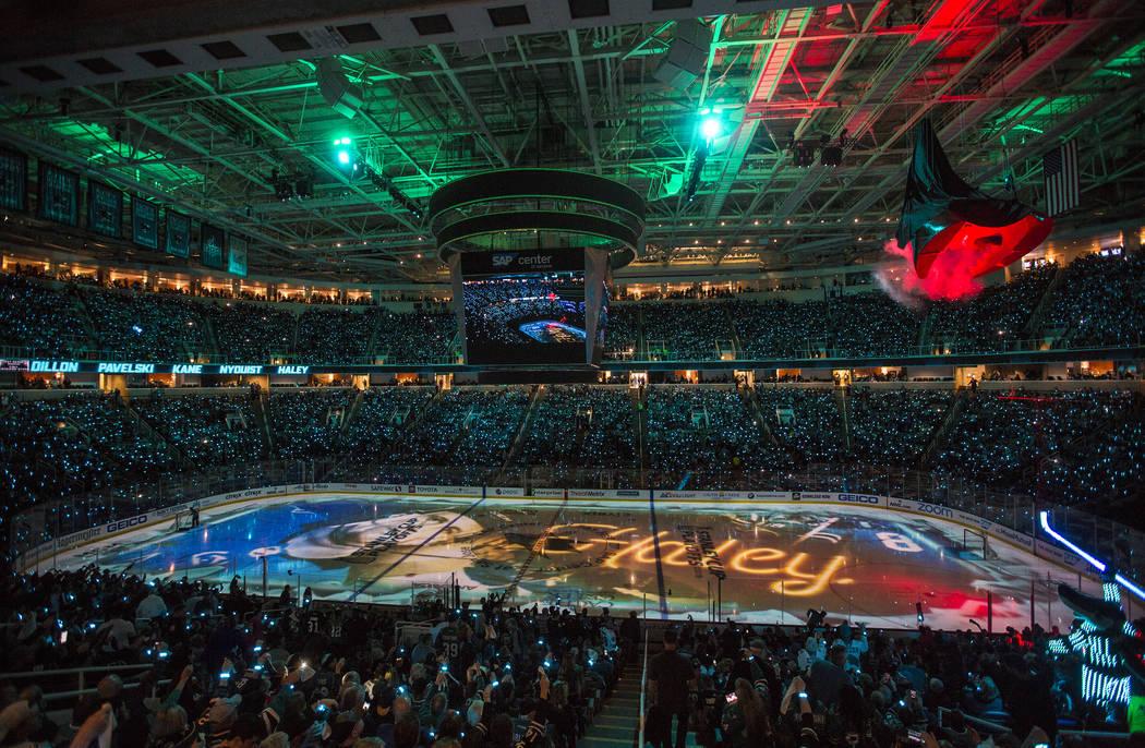El SAP Center está listo para el primer juego de los cuartos de final de la Conferencia Oeste ...
