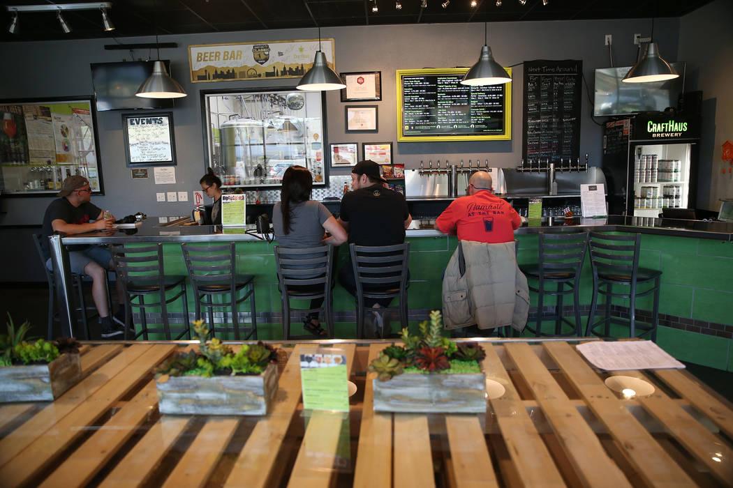 CraftHaus Brewery en Henderson, sábado 13 de abril de 2019. (Erik Verduzco / Las Vegas Review- ...