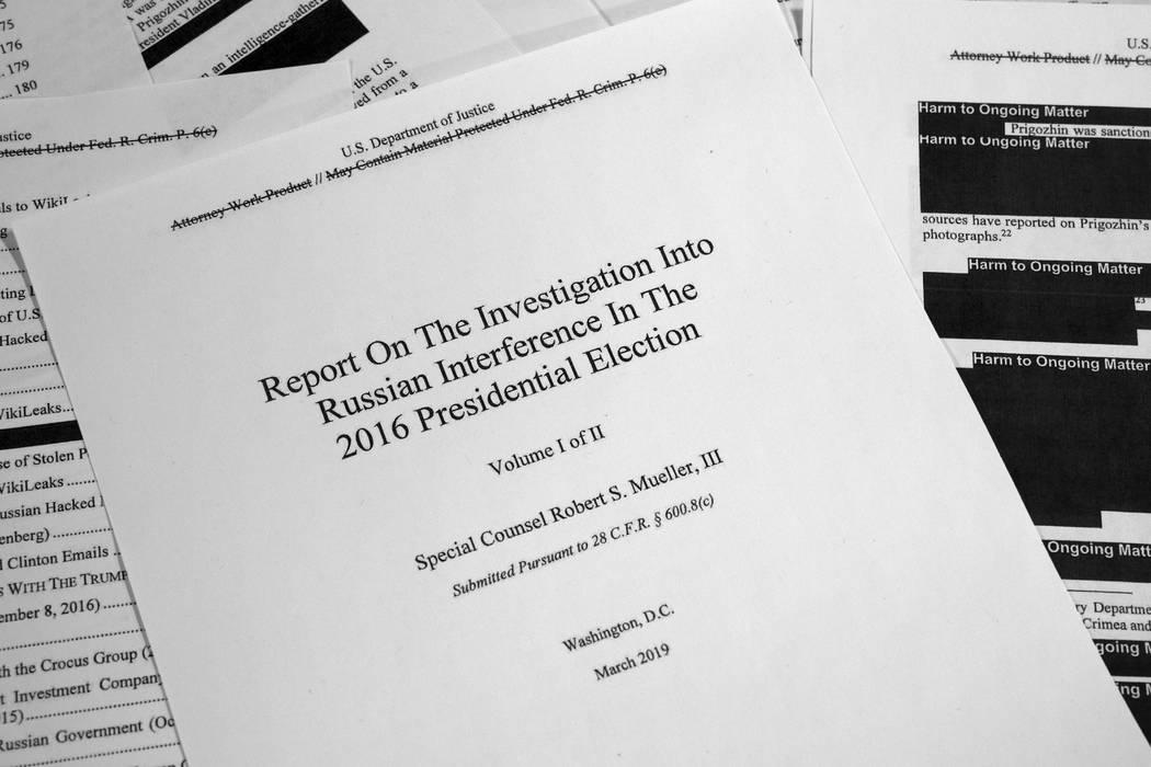 El informe redactado por el abogado especial Robert Mueller sobre la interferencia de Rusia en ...