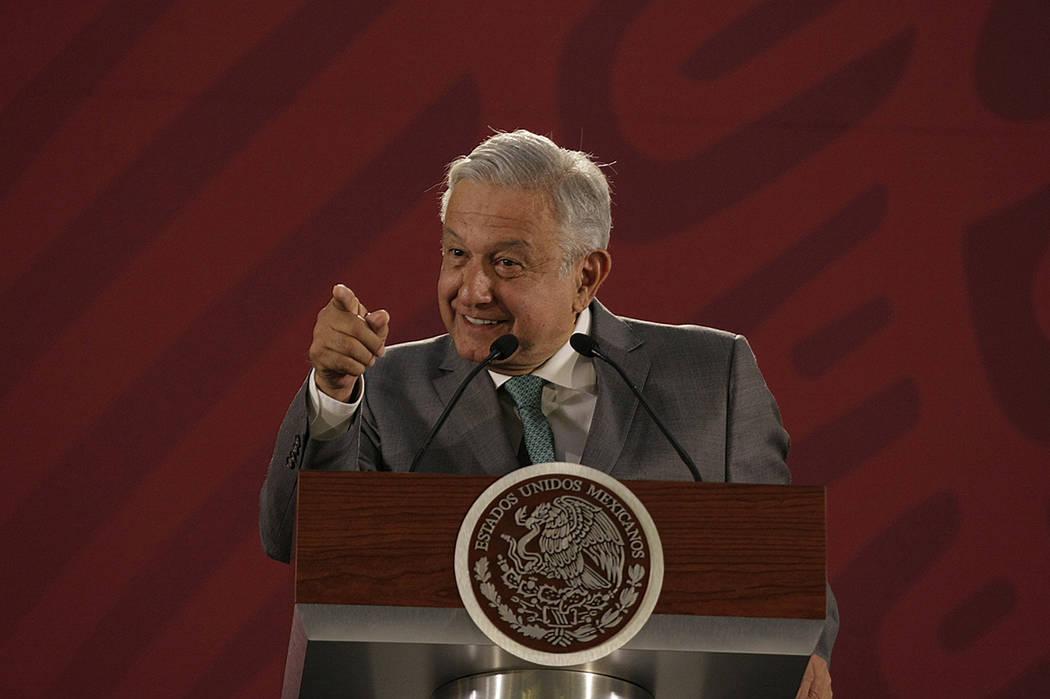Archivo. México, 24 Abr 2019 (Notimex- Oscar Ramírez).- El presidente Andrés Manuel López O ...