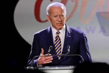 El ex vicepresidente, Joe Biden, habla en los Premios Biden Courage el martes 26 de marzo de 20 ...