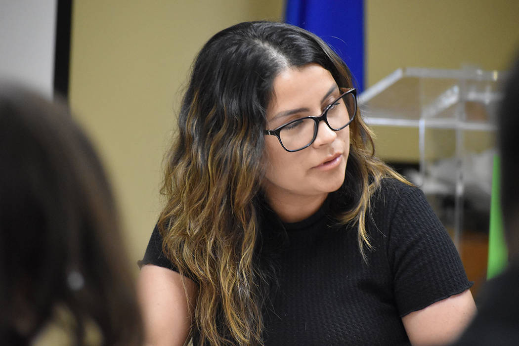 Cesia Alvarado, de la organización Mi familia Vota. Martes 23 de abril de 2019 en la Cámara L ...