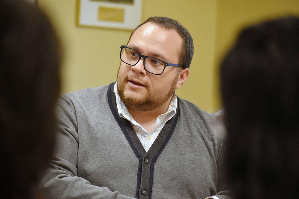 Leo Murrieta, de la organización Make the Road Nevada. Martes 23 de abril de 2019 en la Cámar ...