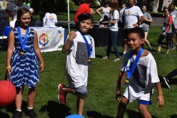 Los niños disfrutaron de las divertidas actividades, luego de la carrera de 5 kilómetros. Sá ...