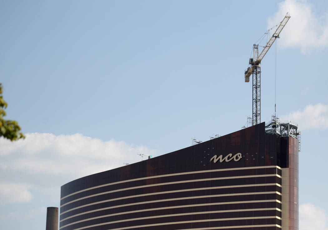 Encore Boston Harbor en Everett, Massachusetts, en construcción el viernes, 24 de agosto de 20 ...