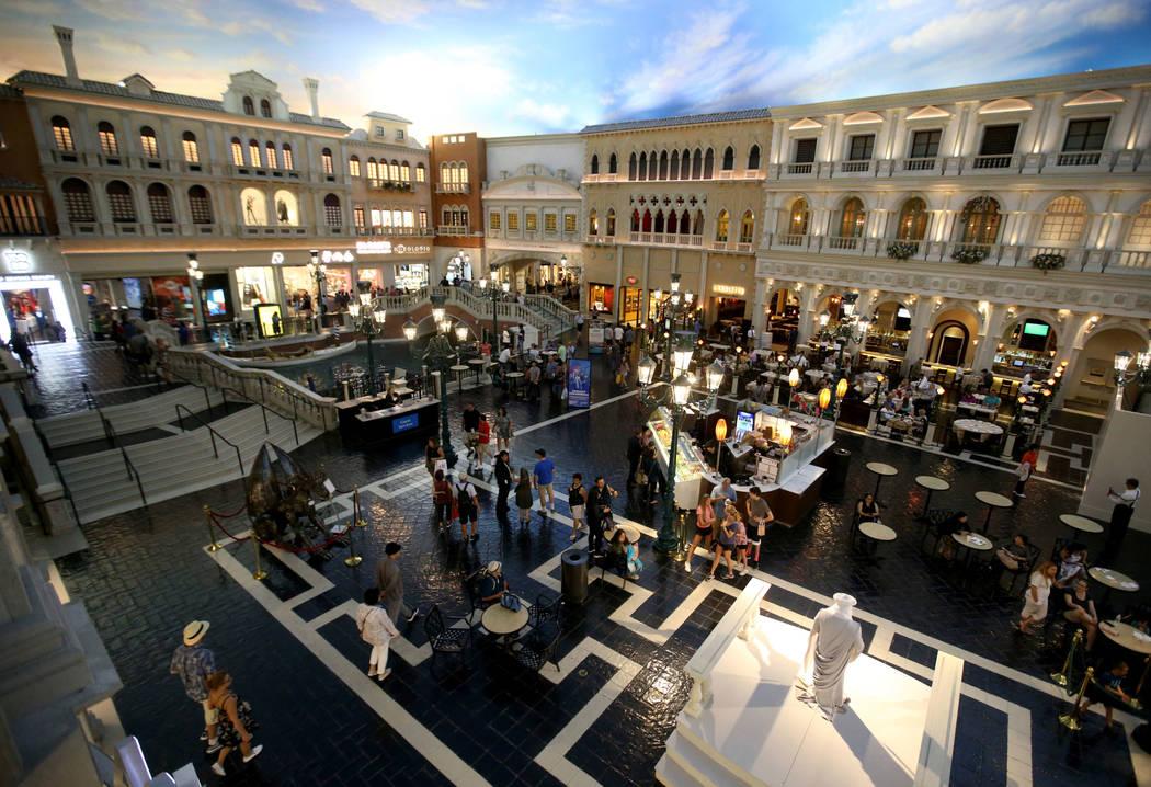 St. Mark's Square at The Venetian on the Strip in Las Vegas Thursday, April 25, 2019. The Venet ...