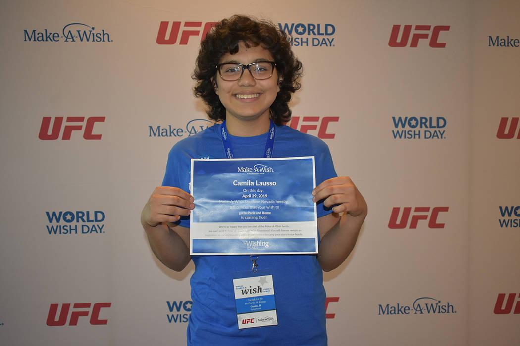 Camila Lausso, de 17 años de edad, tendrá la oportunidad de viajar a Europa tras superar una ...