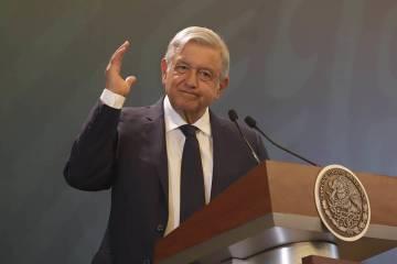 ARCHIVO. Pachuca, 8 May 2019 (Notimex- Gustavo Durán).- El presidente de México, Andrés Manu ...