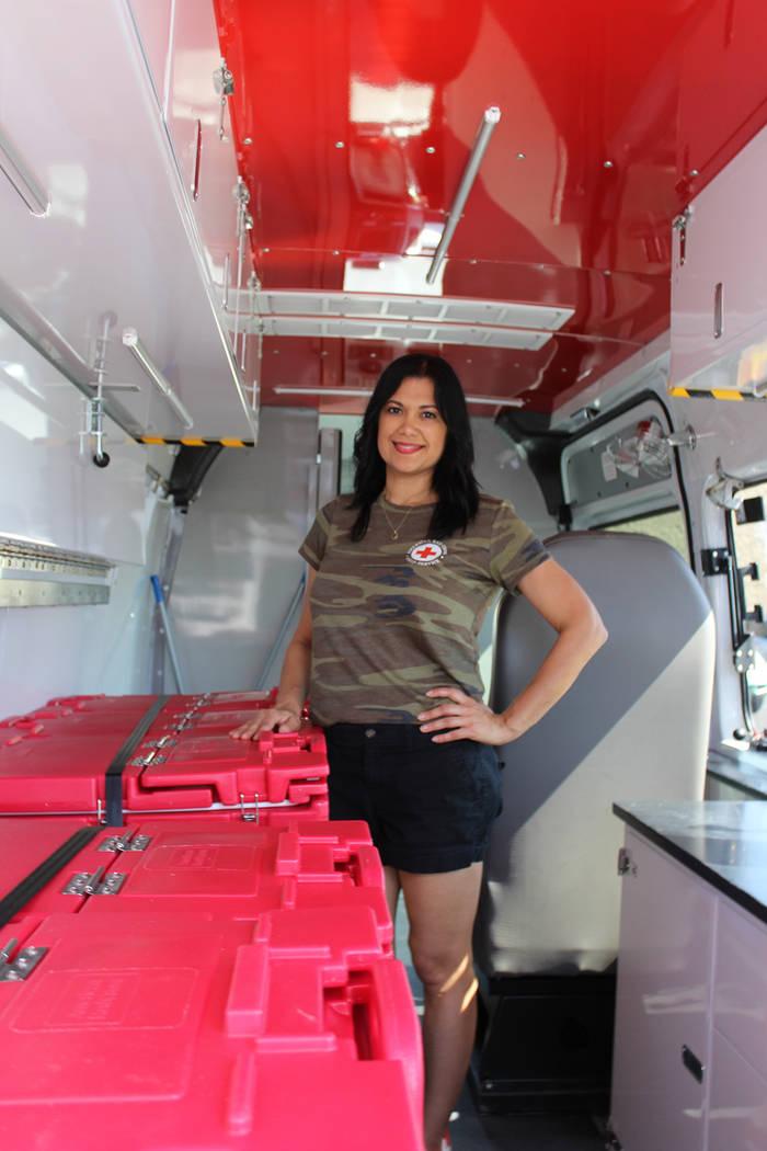 Cynthia de la Torre, vocera de la Cruz Roja del Sur de Nevada, comentó que cada 18 horas atien ...