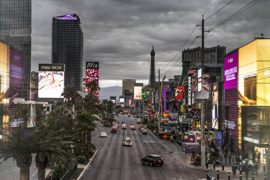 La probabilidad de tormentas eléctricas aumentará hasta el jueves en el valle de Las Vegas. ( ...