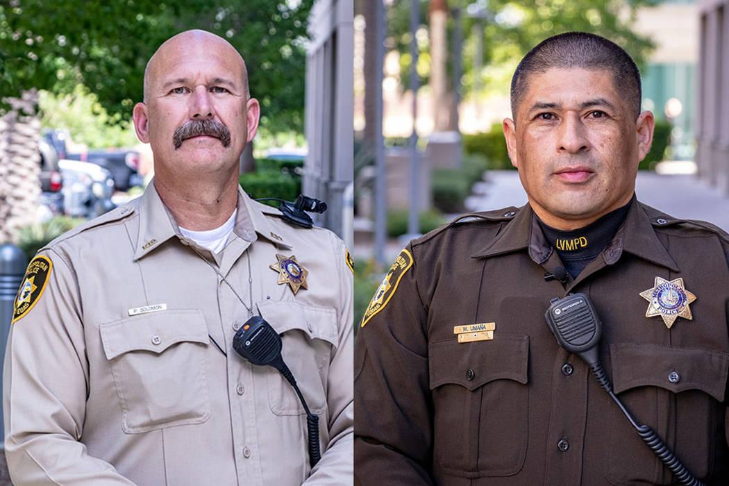 Oficiales Paul Solomon y William Umaña. [ Fotos Cortesía LVMPD ]