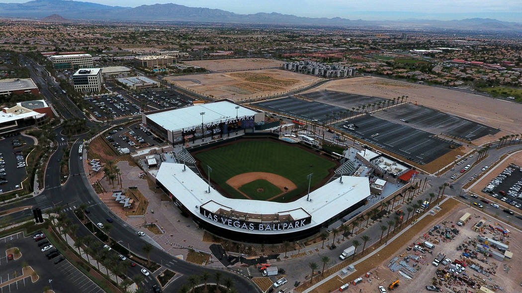 Las Vegas Ballpark® en Downtown Summerlin, hogar del equipo de béisbol Triple-A Aviators® de ...