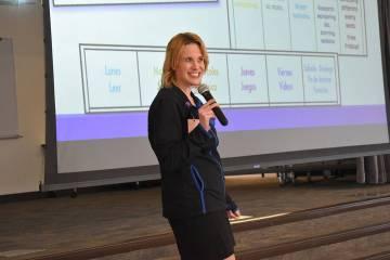 El taller fue impartido por Karen Luallen, facilitadora de FACES. Jueves 9 de mayo de 2019, en ...