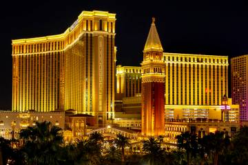 The Venetian en el Strip de Las Vegas. (L.E. Baskow/Las Vegas Review-Journal) @Left_Eye_Images