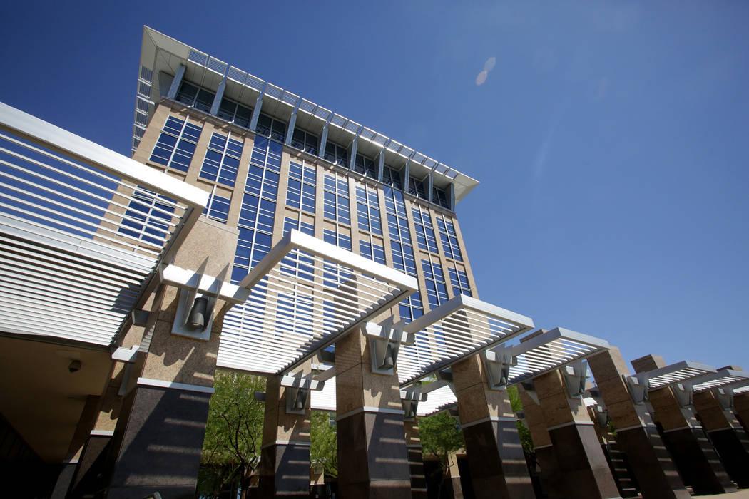 El ayuntamiento de North Las Vegas, visto el martes, 29 de mayo de 2018. (Michael Quine / Las V ...